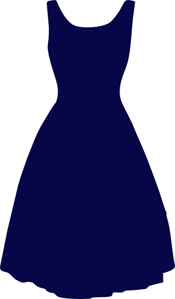 Blue Dress Clip Art at Clker.com - vector clip art online, royalty ...