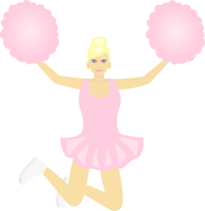 Cheerlead Jumping Clip Art