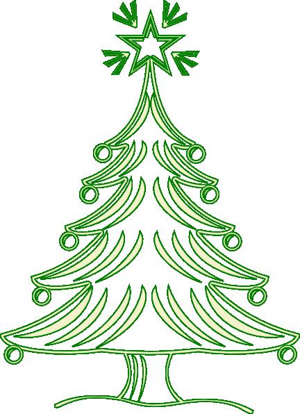 large christmas tree clip art free - photo #11