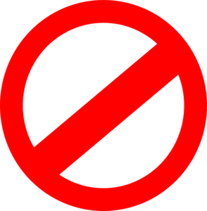 Prohibited Clip Art