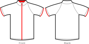 Shirt White With Red Zipper Clip Art