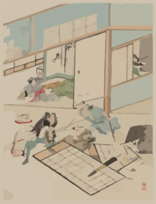 [jūichidanme - Act Eleven Of The Chūshingura - Searching The House] Clip Art