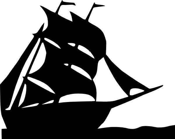 Sailing Boat Silhouette Clip Art at Clker.com - vector ...