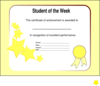 Student Of The Week Realigned Clip Art