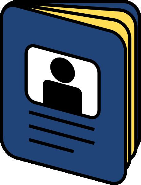 Passport Booklet Icon Clip Art at Clker.com - vector clip ...