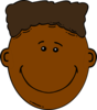Black Boy With Flattop Clip Art