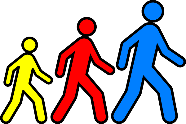 Walking Man Colors 2 Clip Art at Clker.com - vector clip art ...