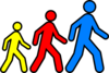 Walking Man Colors 2 Clip Art