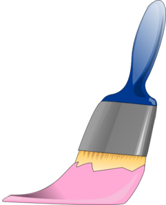 Paintbrush Pink Clip Art