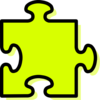 Yellow Jigsaw Piece Clip Art