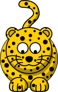 Leopard Looking Down Clip Art