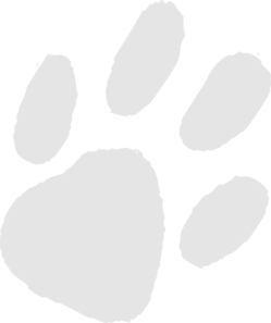 Very Light Gray Paw Print Clip Art