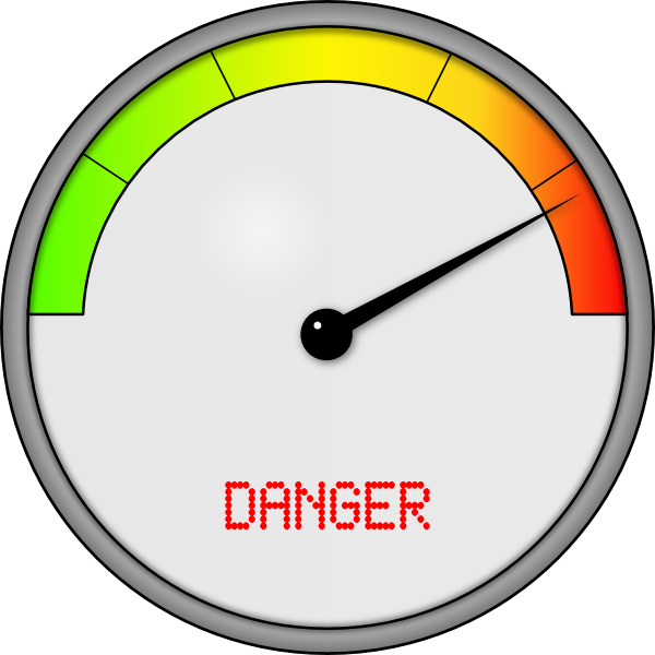 Meter Clip Art : Danger meter clip art at clker vector