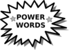 Power Word Card2 Clip Art