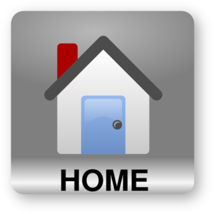 Square Home Text Grey Clip Art