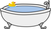 Bath Tub With Rubber Duck Clip Art