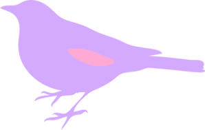 Pink And Purple Bird Silhouette Clip Art