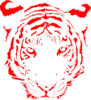 Tiger Red Clip Art