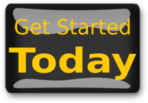 Get Started Today Black Clip Art