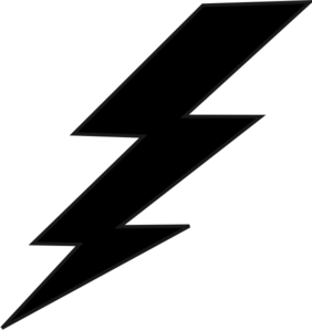 Lightning bolt silhouette. Balck clip art at