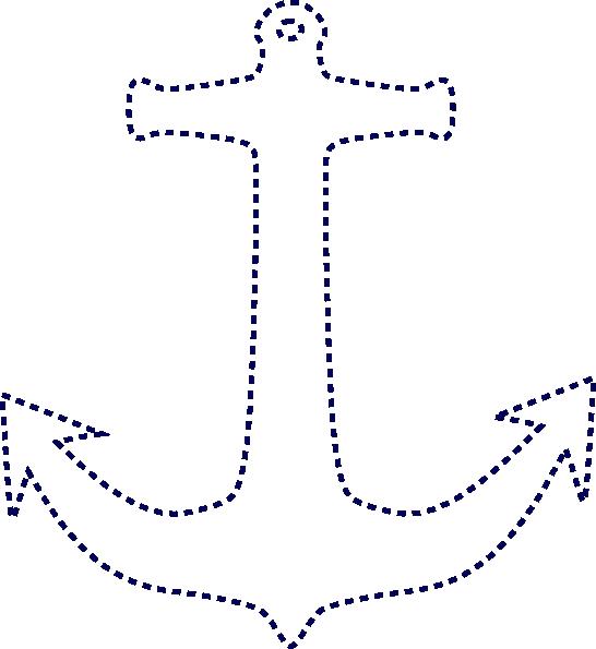 Stiched Anchor Clip Art At Clker Com Vector Clip Art Online
