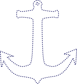 Stiched Anchor Clip Art