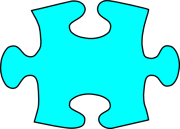 blu jigsaw puzzle piece large clip art at clker com vector clip