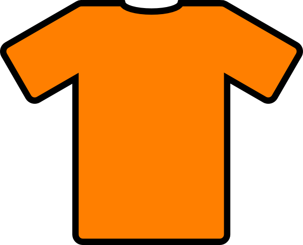 orange t shirt clip art clip art at clker com vector clip art rh clker com clipart t.v clipart t shirt designs