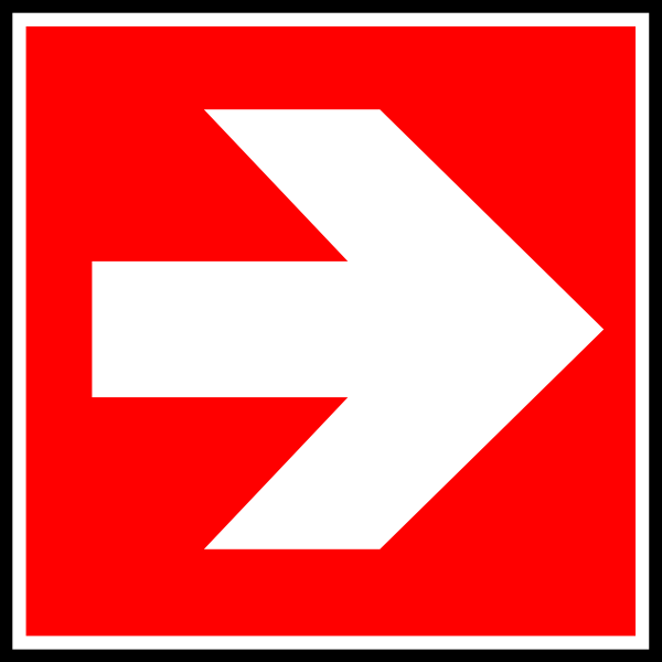 Red Square with White Arrow Logo