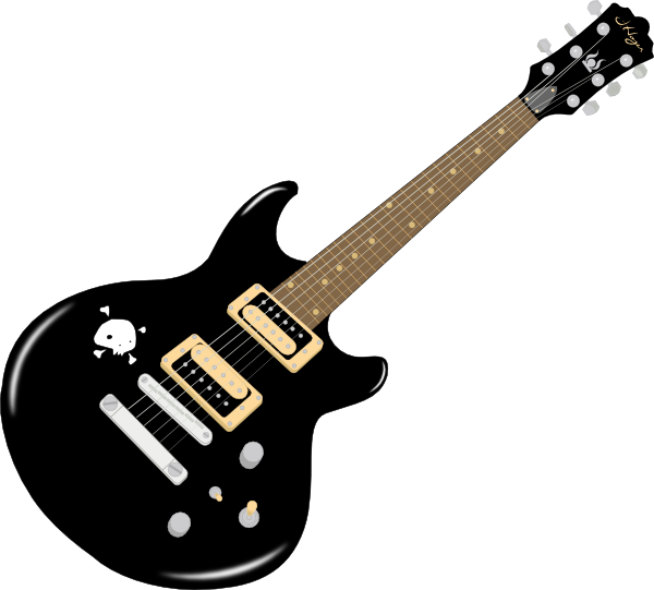 Black Guitar Clip Art at Clker.com - vector clip art online, royalty ...