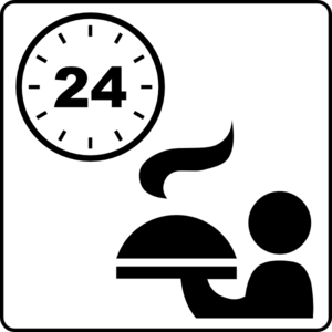 Hotel Icon 24hr Room Service Clip Art