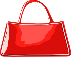 Shiny Red Handbag Clip Art