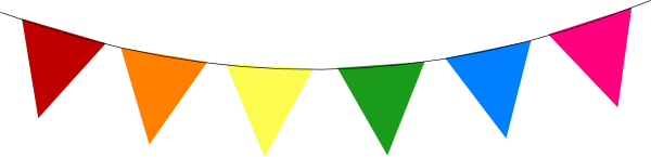 Rainbow Bunting Clip Art at Clker.com - vector clip art online, royalty  free & public domain