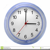 Free Wall Clock Clipart Image