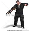 Man With Gun Clipart Image