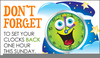 Turn Back Clock Clipart Image