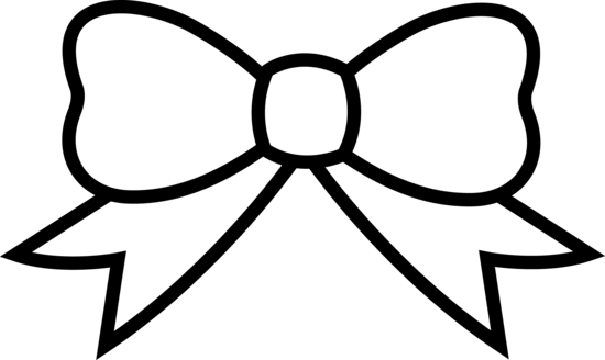 Holidays Christmas Or Birthday Bow Lineart