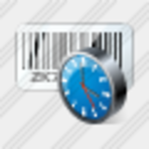 Icon Bar Code Clock Image