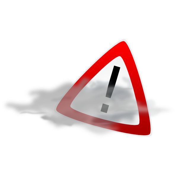 Fog clker. Alert warning clip art