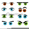 Silly Eyes Clipart Image