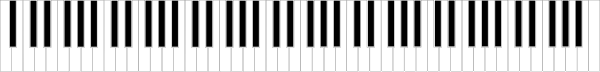 Standard 88-key Piano Keyboard Clip Art at Clker.com ...
