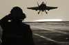 F/a-18 Makes Approach To Carrier Image