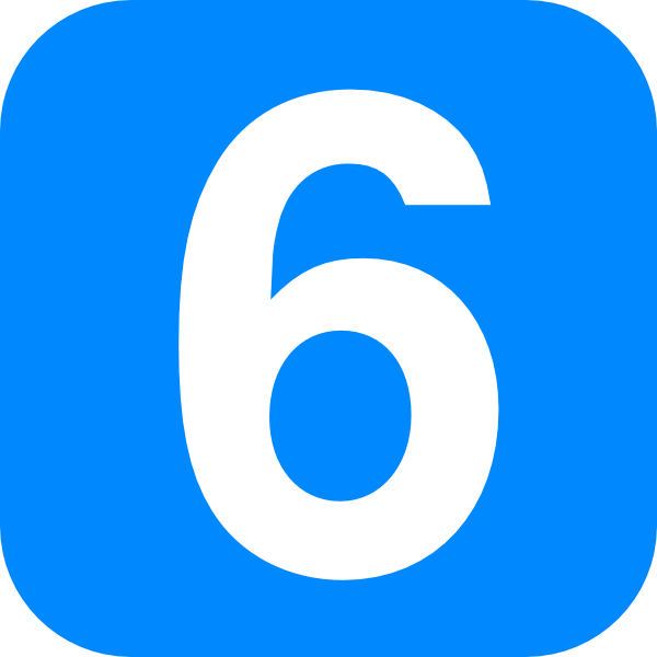Blue Number One Clip Art At Clker Com