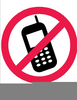Free No Cell Phones Clipart Image
