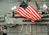 U.s. National Ensign Aboard Uss Carl Vinson Image