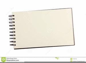 Open Notebook Clipart Image