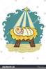 Baby Jesus In Manger Clipart Free Image