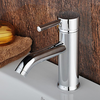 Centerset Contemporary Chrome Finished Single Handle Solid Brass Bathroom Sink Faucet-- Faucetsuperdeal.com Image