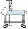 Free Hospital Bed Clipart Image