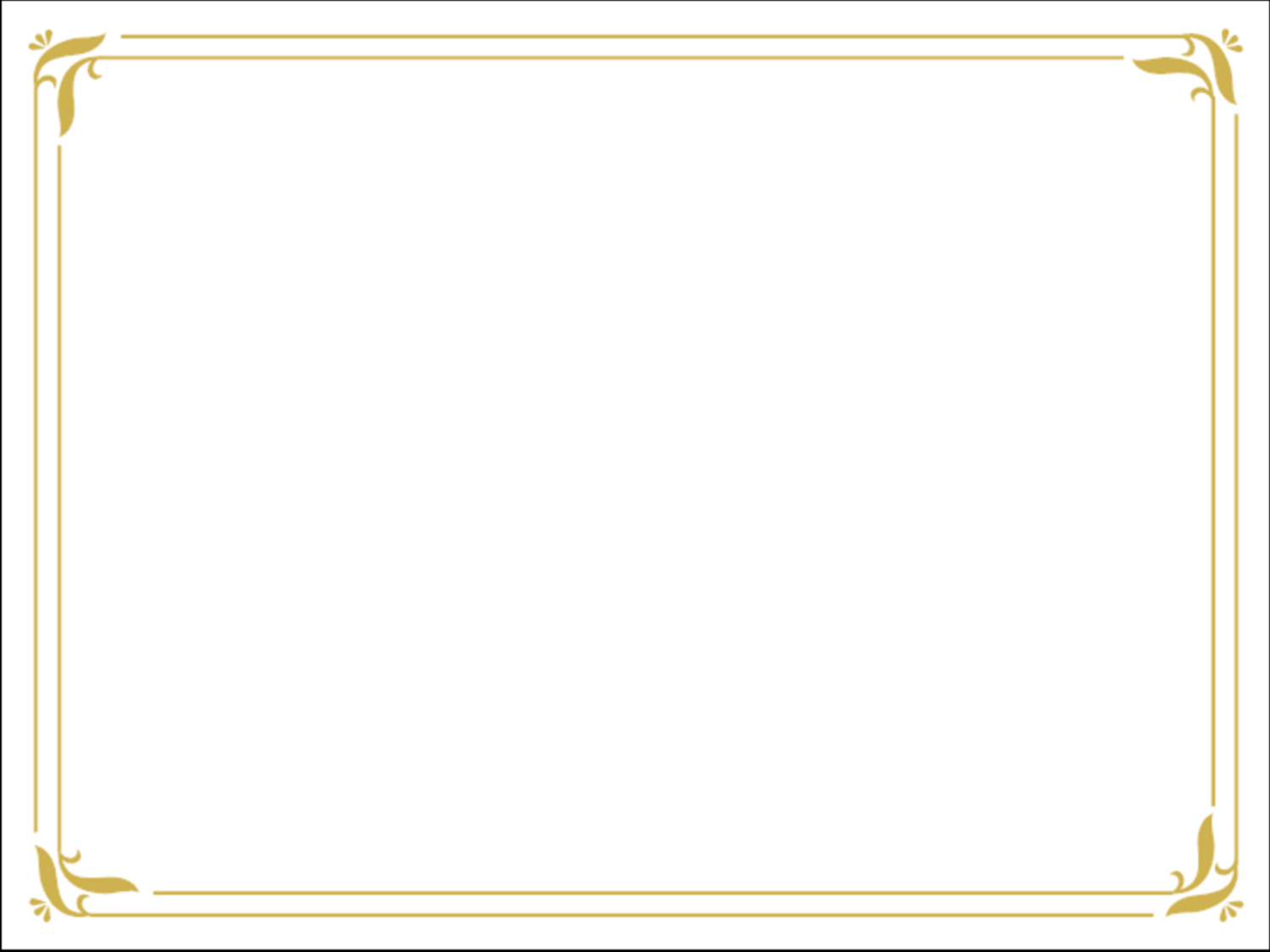 Simple Gold Certificate Border Slide Backgrounds | Free ...